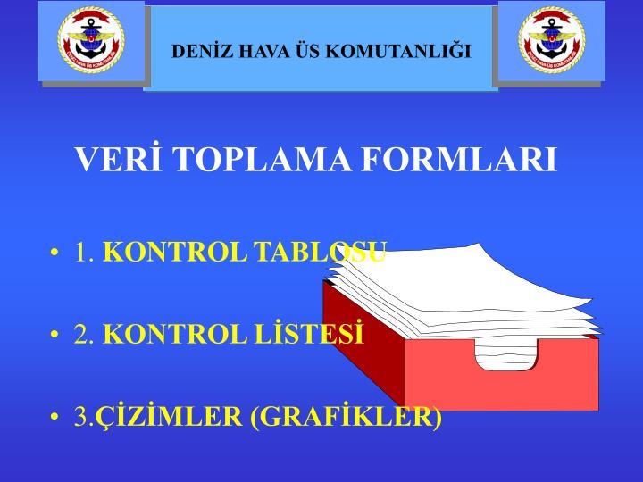 VERİ TOPLAMA FORMLARI