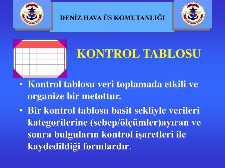 KONTROL TABLOSU