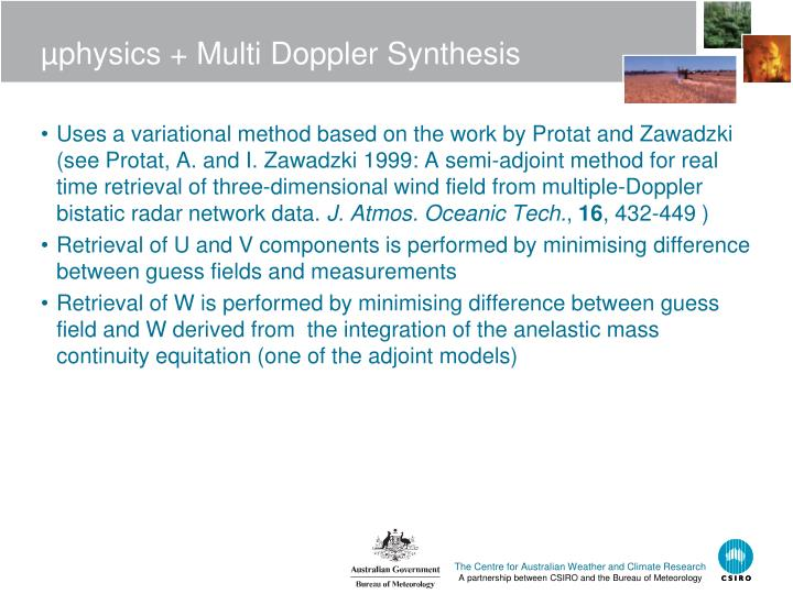 µphysics + Multi Doppler Synthesis