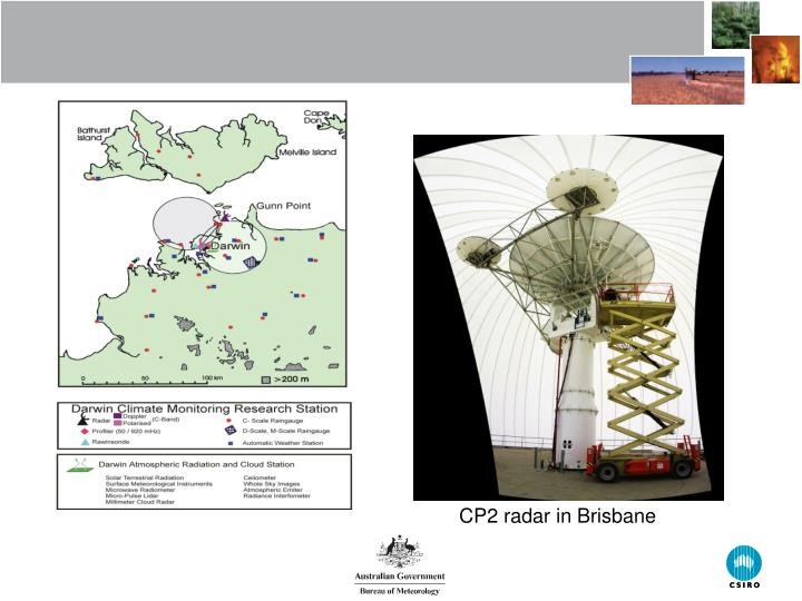 CP2 radar in Brisbane