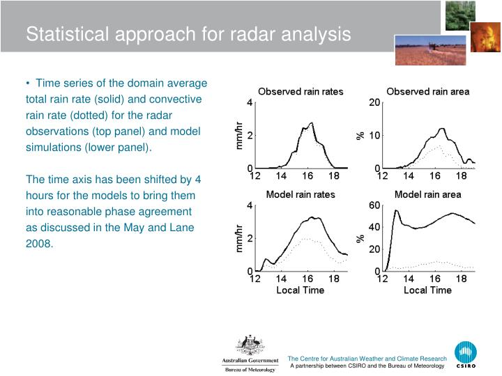 Statistical approach for radar analysis