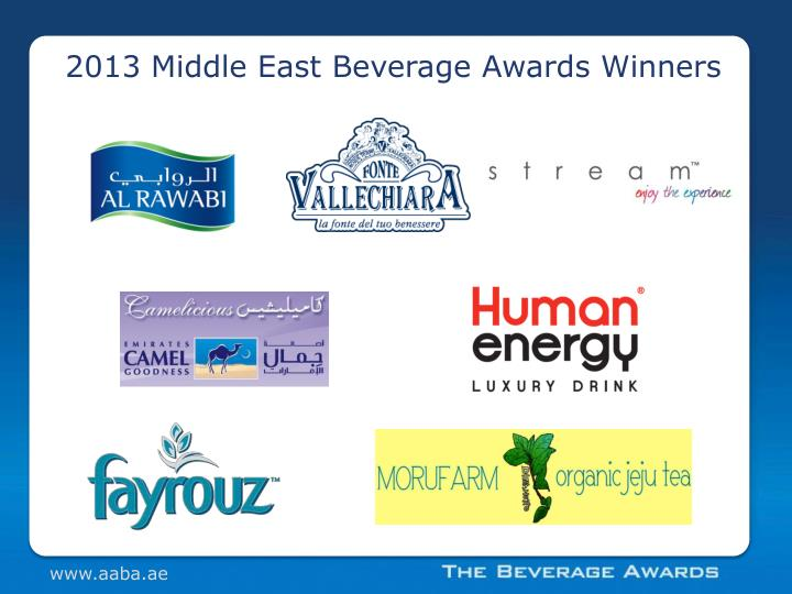 2013 Middle East Beverage Awards Winners