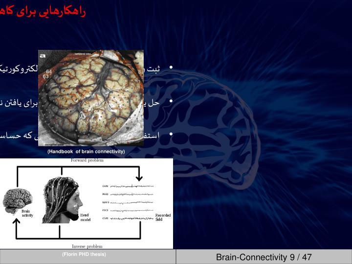مشکلات مخصوص تخمین ارتباطات مغزی در