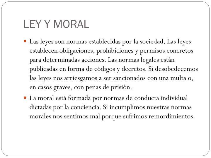 LEY Y MORAL