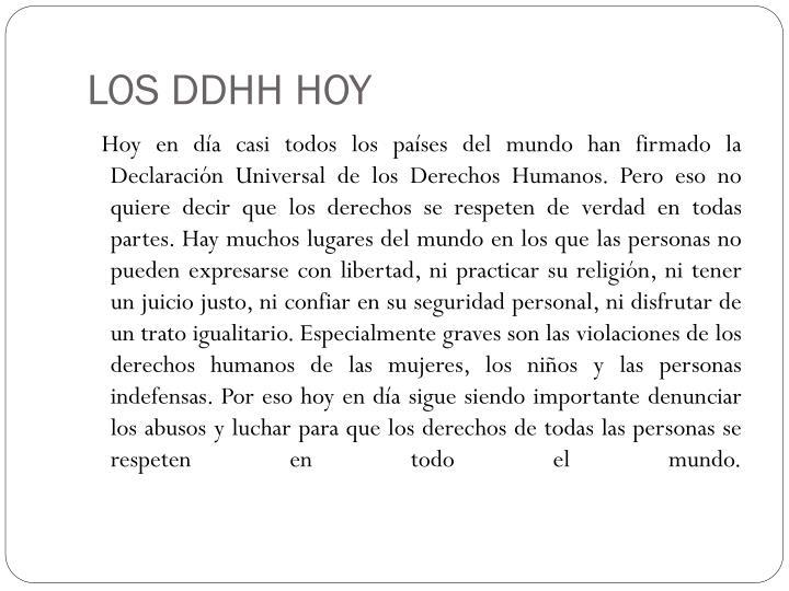 LOS DDHH HOY
