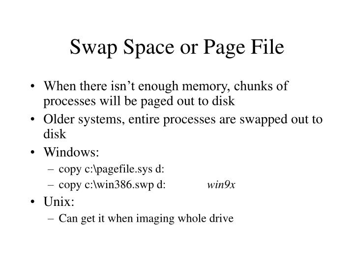 Swap Space or Page File