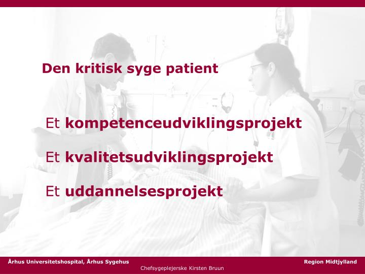 Den kritisk syge patient