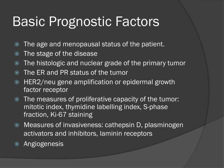 Basic Prognostic Factors