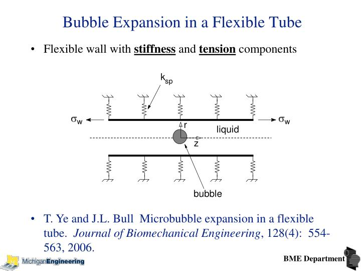 Bubble Expansion in a Flexible Tube