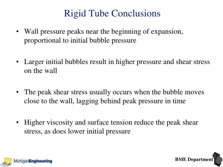 Rigid Tube Conclusions