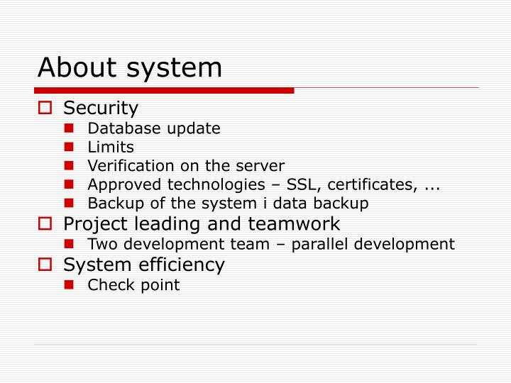 About system