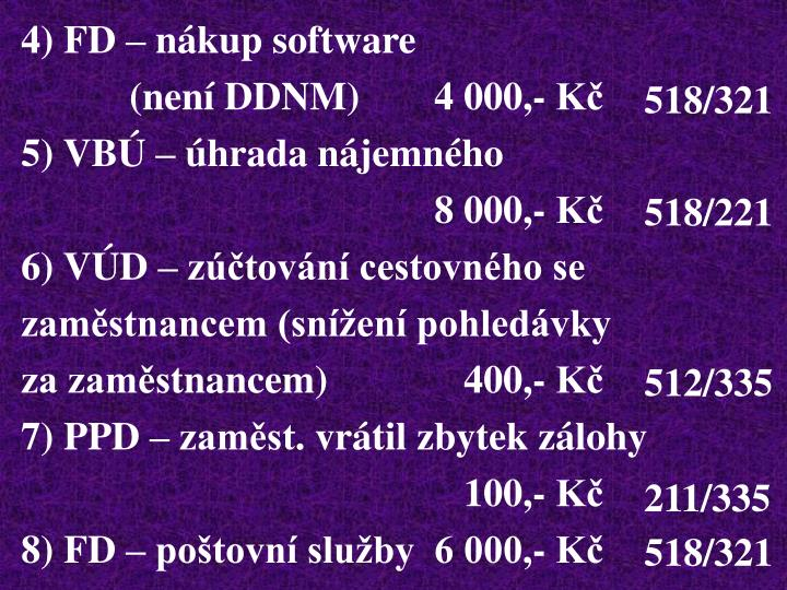 4) FD – nákup software