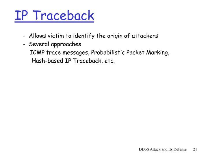 IP Traceback
