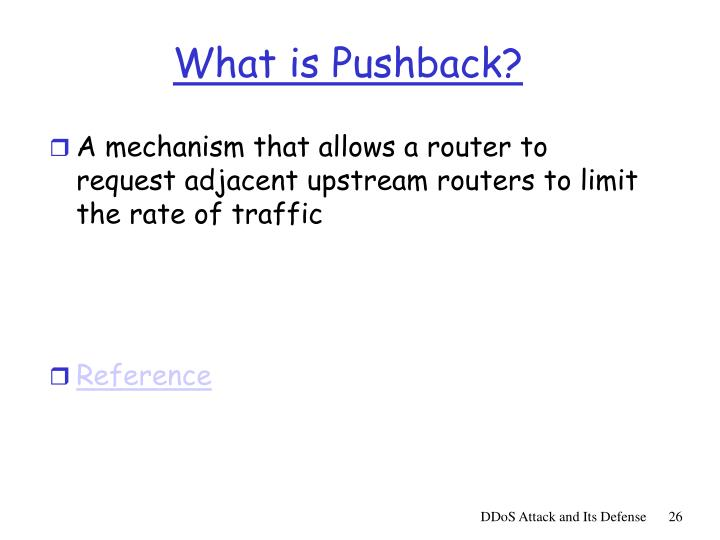 What is Pushback?