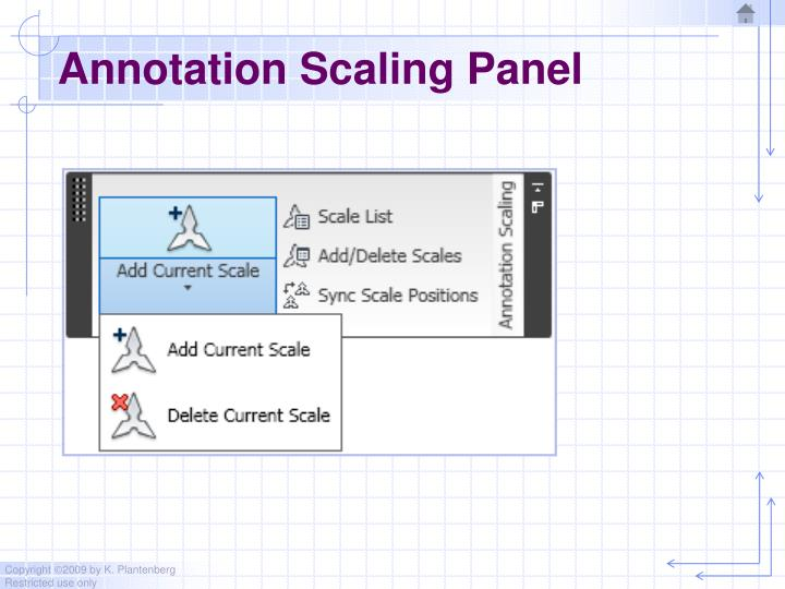 Annotation Scaling Panel