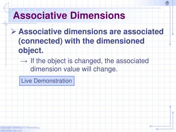 Associative Dimensions