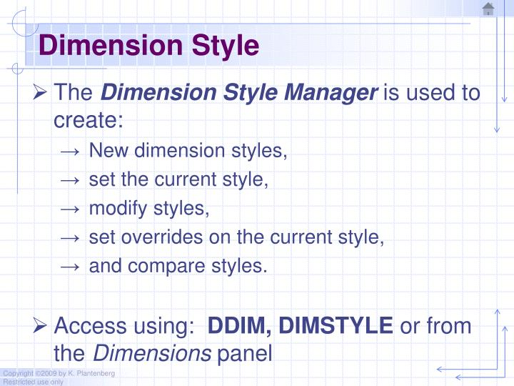 Dimension Style