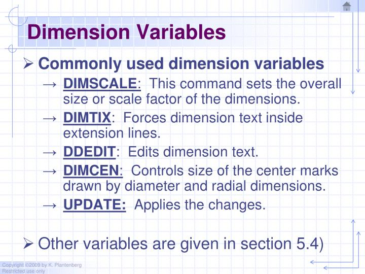 Dimension Variables