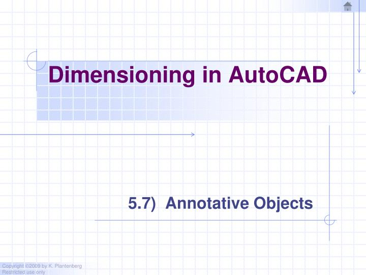 Dimensioning in AutoCAD