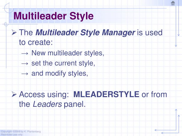 Multileader Style