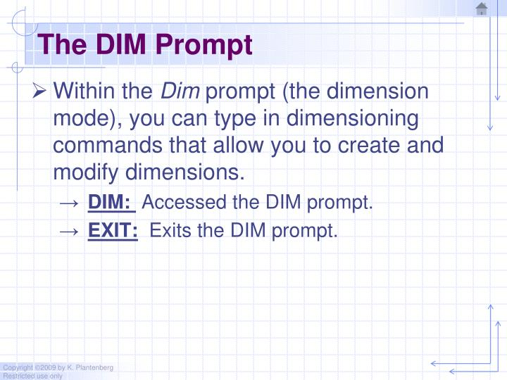 The DIM Prompt