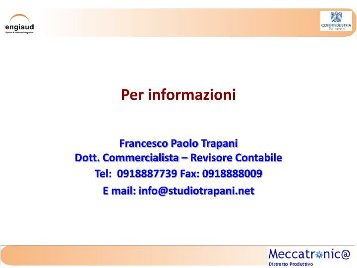 Per informazioni