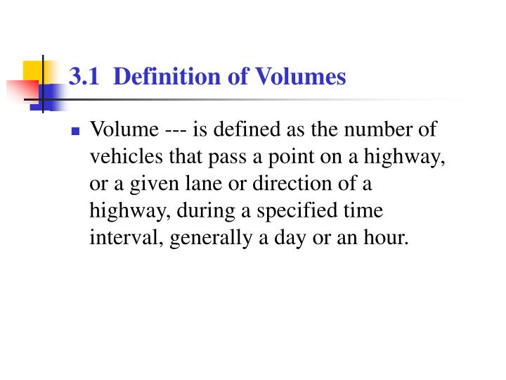 3 1 definition of volumes