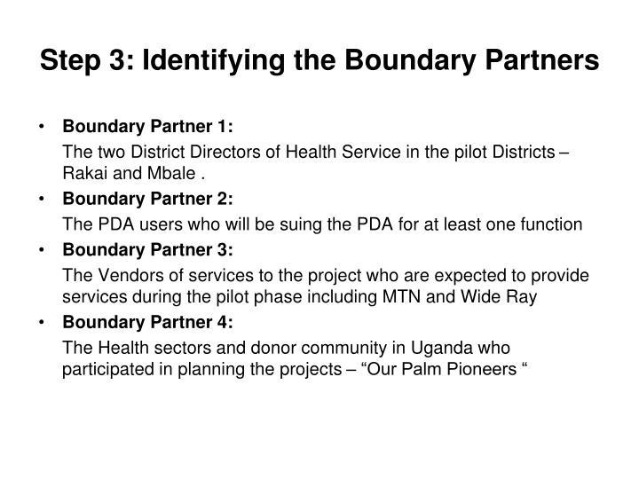 Step 3: Identifying the Boundary Partners