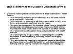 step 4 identifying the outcome challenges cont d