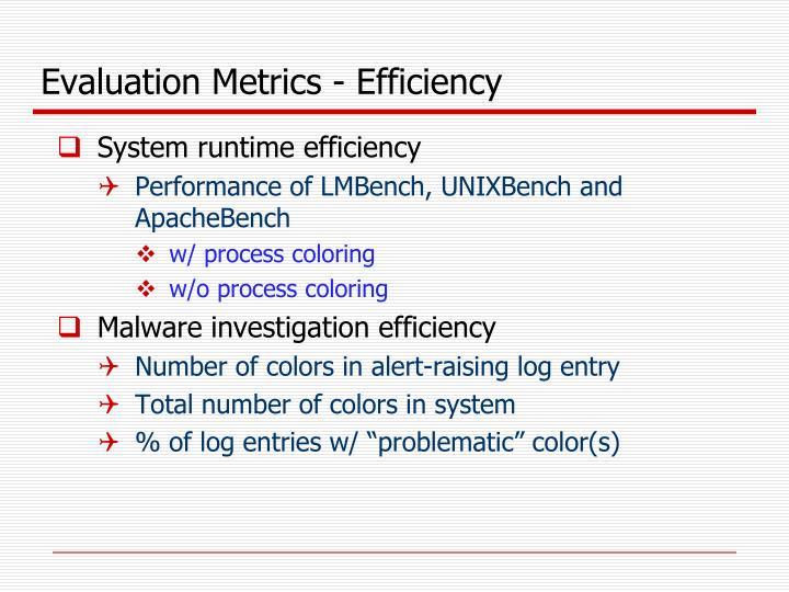 Evaluation Metrics - Efficiency