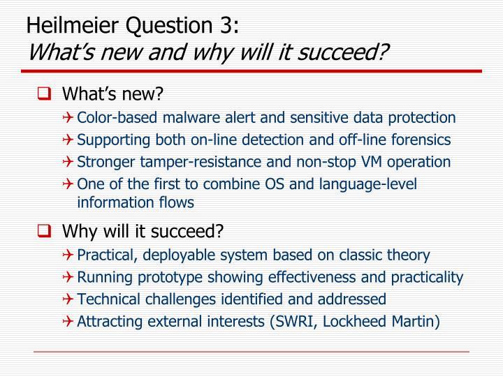 Heilmeier Question 3: