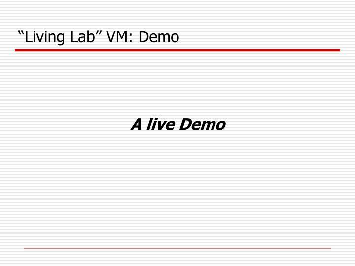 """""""Living Lab"""" VM: Demo"""