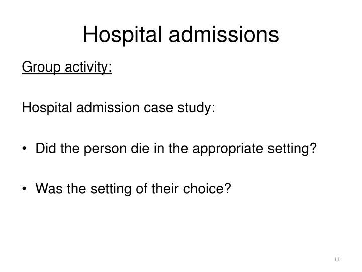 Hospital admissions
