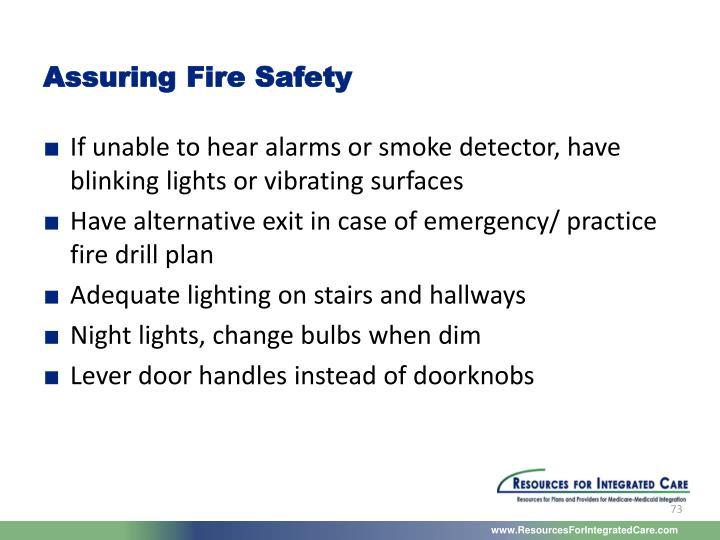 Assuring Fire Safety