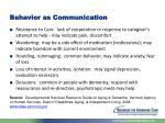 behavior as communication