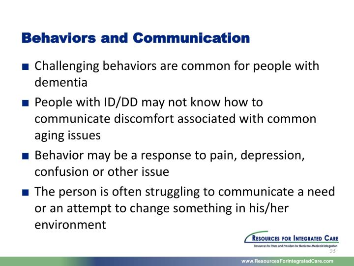 Behaviors and Communication
