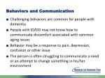 behaviors and communication