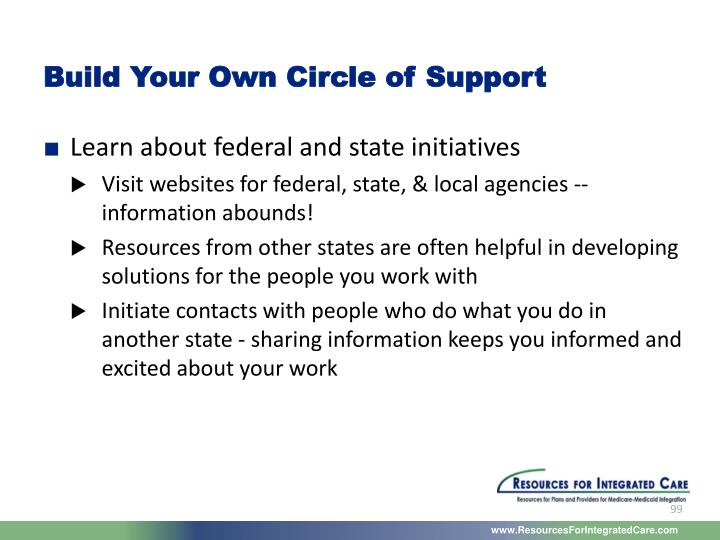 Build Your Own Circle of Support