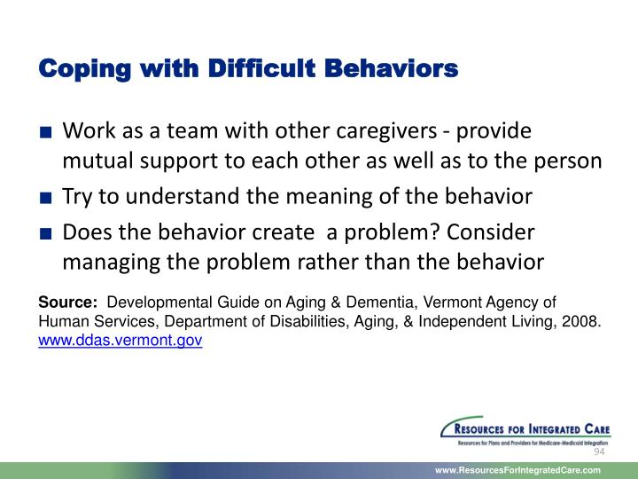 Coping with Difficult Behaviors