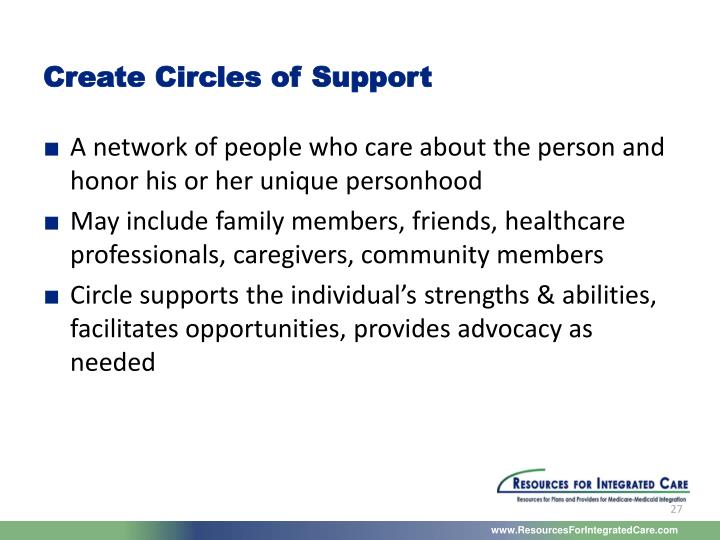 Create Circles of Support