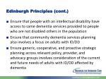 edinburgh principles cont
