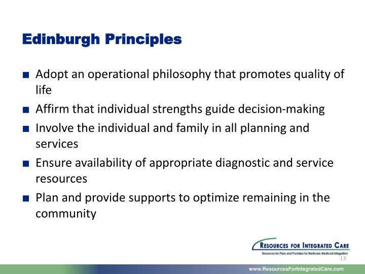 Edinburgh Principles