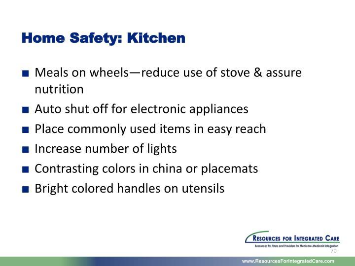 Home Safety: Kitchen