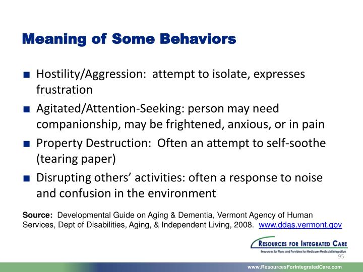 Meaning of Some Behaviors