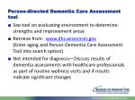 person directed dementia care assessment tool