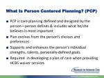 what is person centered planning pcp