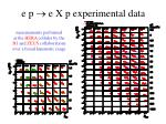 e p e x p experimental data
