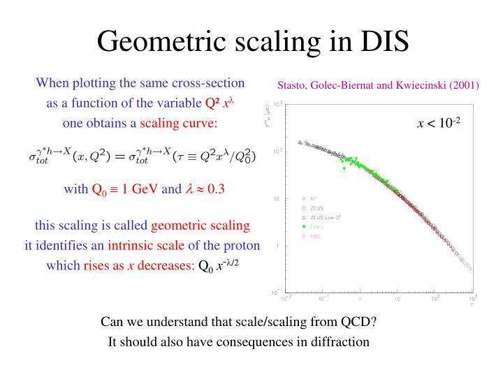 Geometric scaling in DIS