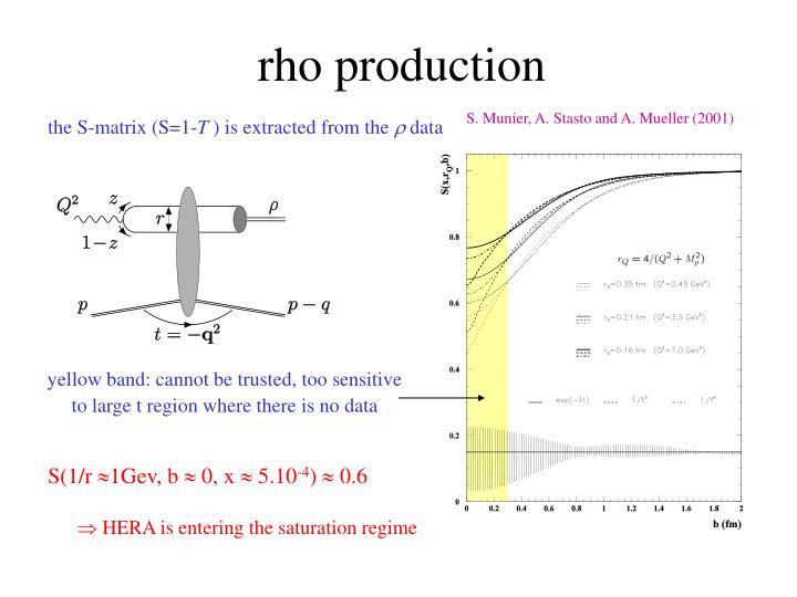 rho production