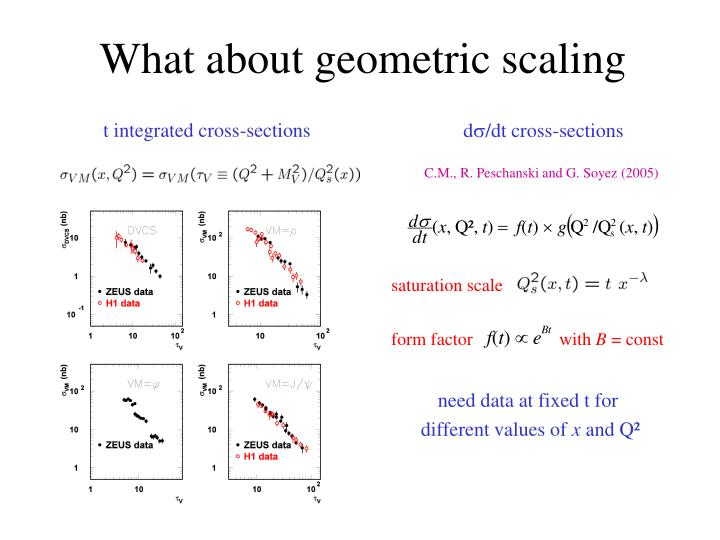 What about geometric scaling